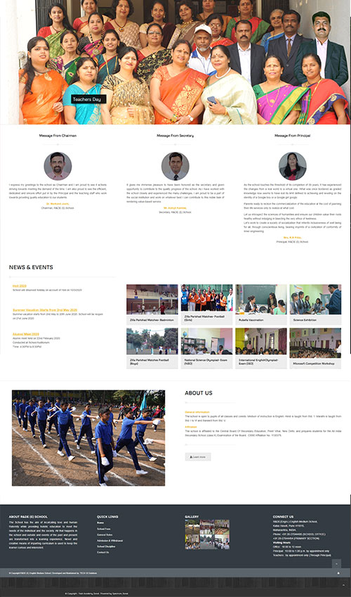 School Website Development By TECHUI