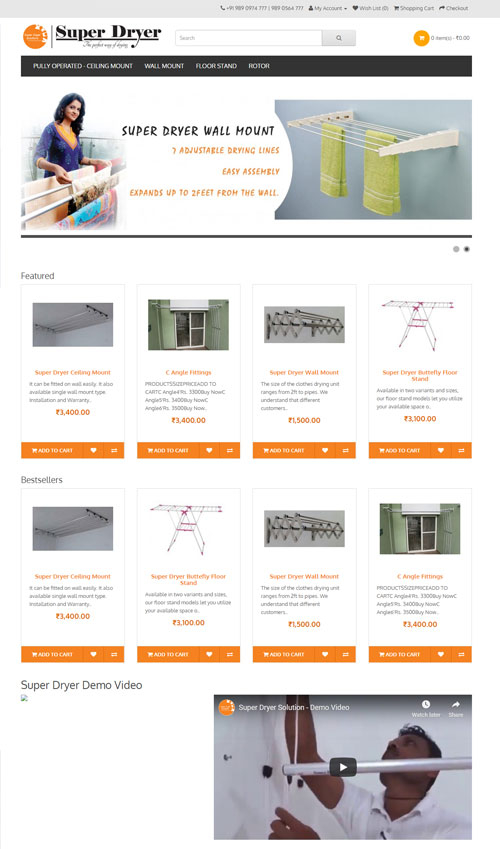 ECommerce Website By TECHUI