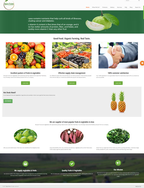 Fruits Export Company Website