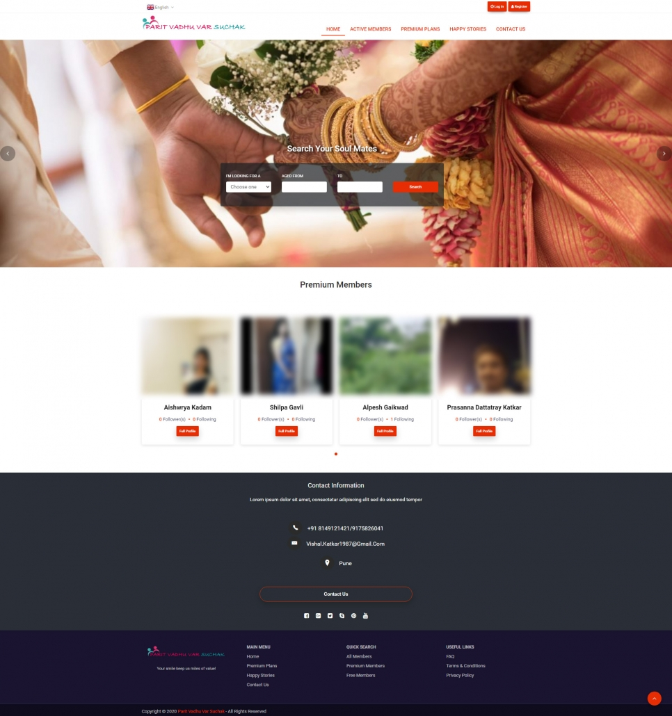 Matrimony Website TECHUI